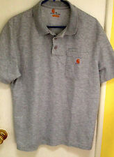 Carhartt Grey Polo Shirt Size Medium