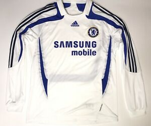 Chelsea London Adidas 2007 Football Shirt Long sleeve Jersey Very Rare Vintage
