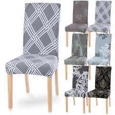 Stretch Spandex Chair Covers Removable Slipcovers Seat Cover Dining Room Decor D