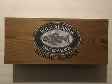Wild Alaska Smoked Salmon - Kodiak, Alaska - Wood Storage Box