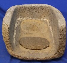 Large Prehistoric Ancient Southwestern Indian Metate & Mano appro 1000 years old