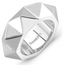 Room 101 Polished Silver Stainless Steel Spike Punk Rock Ring Sz 7.5 NEW
