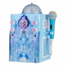 New Disney Frozen Elsa Flashing Disco Ball Ice Palace Karaoke w/ Microphone