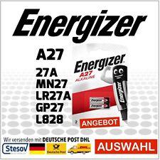 2er Pack Alkaline Batterie Energizer 12V A27 27A MN27 LR27A GP27 L828