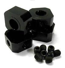 L11494BK 1/5 scala 17mm x 9.5 mm Drive Quadrato ruota mozzo in Alluminio Lega Nero x4