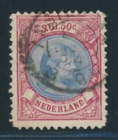 NETHERLANDS 1894, Mi. 45 B used, highest value!! Very fresh and fine!!