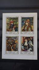 1x Bloc Sheet AJMAN Renoir Paintings imperf. Neufs 1970 MNH**