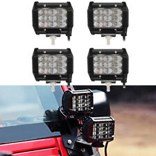 "4PCS 4"" 72W Quad Row LED Work Light Flood Combo For Off Road Truck Boat Jeep SUV"