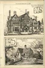 1878 Entrance Lodge Brownfield Hall Suffolk, Broad Water Down Tunbridge Wells