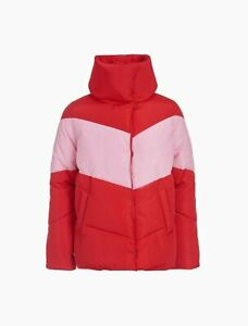 CALVIN KLEIN BIG GIRLS COLORBLOCK CHEVRON PUFFER JACKET SIZE 16