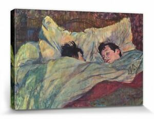 Henri De Toulouse-Lautrec - The Bed Poster Mounted Canvas Print (47x32in) #90955