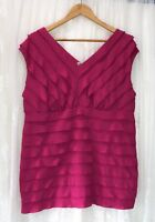AUTOGRAPH SIZE 16 FUSHIA PINK TIERED TOP