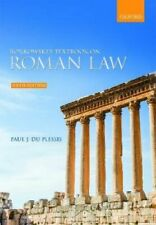 Borkowski's Textbook on Roman Law by Paul J. du Plessis 9780198848011