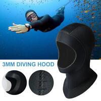 5mm Neoprene Scuba Dive Snorkeling Neck Hat Full Face Mask Warm Hood CAP Size