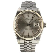 Rolex Datejust 36 mm Steel Silver Dial Mens Jubilee Watch 1601