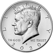2020  P&D Mint  John F Kennedy Half Dollars  <>  Mint State BU Condition   jfk