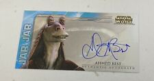 Star Wars Attack Of The Clones Topps Widevision Auto Card JAR-JAR Ahmed Best