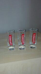 Smirnoff Tall Shot Glasses