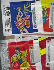 ( 4 )  TOPPS    VINTAGE   BASKETBALL  WAX  WRAPPERS