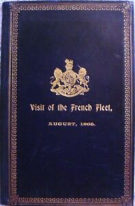 Visit of the French Fleet August 1905  Leather Bound     Programme - Events