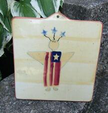 HARTSTONE POTTERY STONEWARE TRIVET Patriotic Old Glory Flag