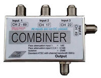 Selective channel combiner UHF for 2 or 4 antennas