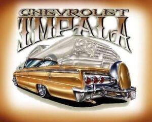 Chevrolet Impala Lowrider Poster Print Art Chevrolet American Classic Custom Car