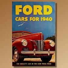 1940 Ford Cars De Luxe V-8 Tudor Fordor Sedan Coupe Convertible FD-7206