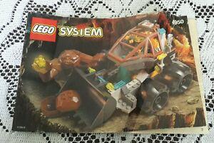 Legos Legoland Set # 4950 Rock Raiders Loader Dozer Instructions Manual Only