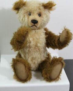RETAIRED STEIFF CAPPUCCINO TEDDY BEAR EAN 001000 BROWN/TAN MOHAIR