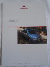 Honda Accord range brochure Sep 1998