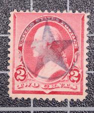 Scott 220 2 Cents Washington Used Star In Fancy Cancel Nice Stamp