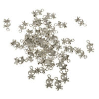 50pcs Antique Silver Skull Charms Beads Pendants for Jewelry Making DIY