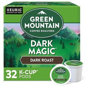 Green Mountain Coffee Roasters Dark Magic Keurig K-Cup Pods,Dark Roast 32 count