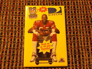 NFL SUNDAY TICKET ON DIRECT TV PROMO PIN JERRY RICE 49'ers