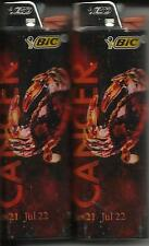 ZODIAC (2013) ASTROLOGY HOROSCOPE CANCER BIC LIGHTER SET OF 2 MADE IN THE USA
