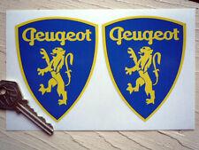Peugeot Clásico Con Dibujo De Dragón Y Escudo en forma de pegatinas 90mm Par Auto Carrera Rally Racing