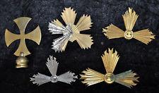 Lote de 5 Cruces para pictures in bronze metal. y principios del siglo xx