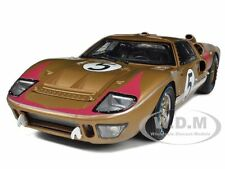 1966 FORD GT-40 MK 2 GOLD #5 1/18 CAR MODEL BY SHELBY COLLECTIBLES SC403
