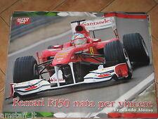 # POSTER FERNANDO ALONSO FERRARI F150 ITALIA 2011 CM.70X54 AD5