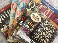 For the LOVE of QUILTING magazine lot, 5 issues 2005 back-issue