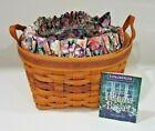 1997 Longaberger Petunia Basket Set May Series Liner & Protector MANY SIGNATURES