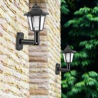 Waterproof Outdoor Solar Powered Lanterns Lights Hexagonal Lamp Mount Wall Z8D6