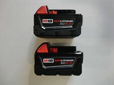 (2) MILWAUKEE 18V 18 Volt L i- Ion 48-11-1850 XC 5.0 AH Battery packs 48-11-1852
