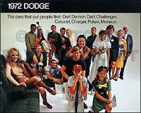 1972 Dodge Sales Catalog 72 Charger Coronet Challenger Rallye Dart Polara Demon
