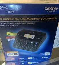 Brother P-touch Label Maker PC-Connectable Labeler PTD600 w/ Color Display NEW