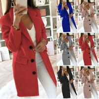 Womens Woolen Coat Shawl Collar Single Breasted Jacket With Pockets Solid Color
