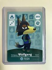Wolfgang # 255 Animal Crossing Amiibo Card Horizons FREE TRACKING, NEVER SCANNED