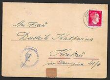 German Reich covers 1943 cens Letter Sheet Concentration Camp Oranienburg