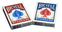 Bicycle Poker Size Standard Index Playing Cards (4-Pack) (Red, Blue or Black)